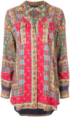Etro long length print shirt