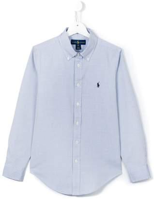 Ralph Lauren Kids logo embroidered button down shirt