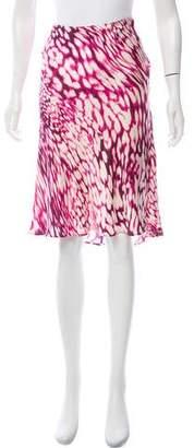 Les Copains Printed Satin Skirt