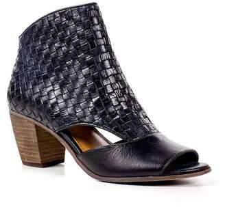 Patricia Nash Rosetta Leather Woven Cutout Bootie