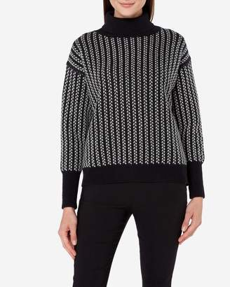 N.Peal Textured Roll Neck Cashmere Jumper