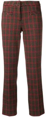Cambio check patterned trousers