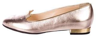 Charlotte Olympia Kitty Leather Loafers