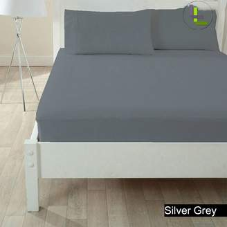 Living & Co 600TC 100% Egyptian Cotton 3PCs Fitted Sheet Solid(Pocket Size: 21 inches)