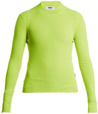 MSGM Ribbed-knit top
