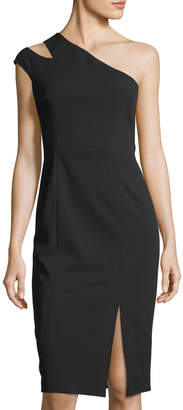 Maggy London One-Shoulder Crepe-Scuba Dress