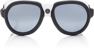Moncler sunglasses Acetate and Leather D-Frame Sunglasses