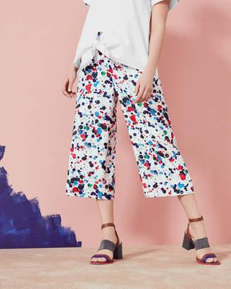 Ted Baker Paint Splash Print Wide Leg Trousers
