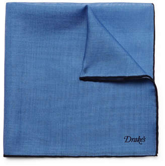 Drakes Drake's Wool And Silk-Blend Pocket Square