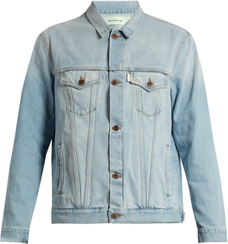 OFF-WHITE The End denim jacket $495 thestylecure.com