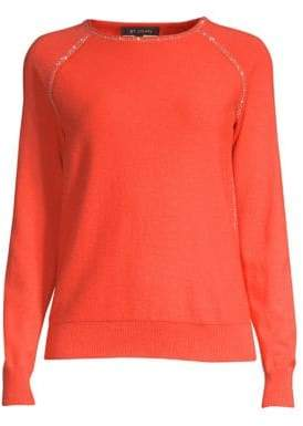 St. John Cashmere Knit Jewel Sweater