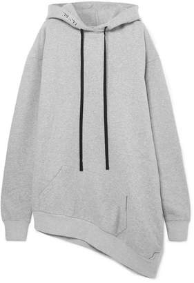 Unravel Project Oversized Asymmetric Cotton-jersey Hoodie