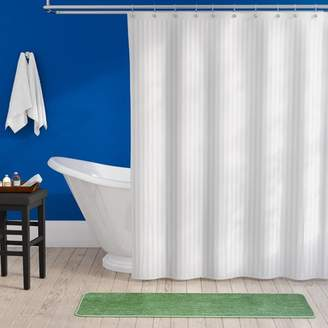 Charlton Home Darmstadt Damask Stripe Shower Curtain Liner