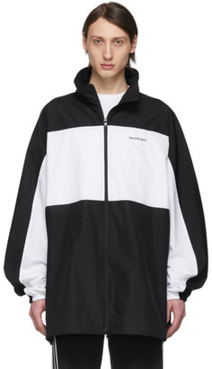 Balenciaga Black and White Zip-Up Jacket
