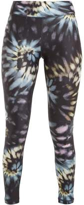 The Upside Tie dye-print cropped leggings