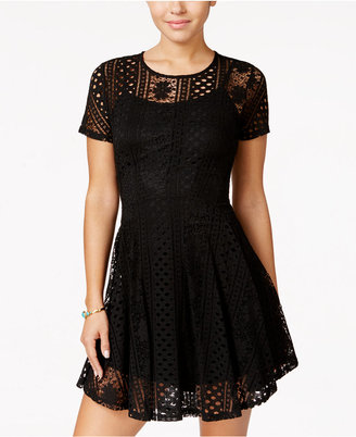 American Rag Lace Fit & Flare Dress, Created for Macy's $69.50 thestylecure.com