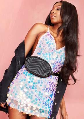 Missy Empire Missyempire Josie Black Quilted Bum Bag