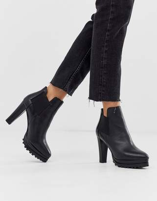 AllSaints Sarris heeled leather bootS