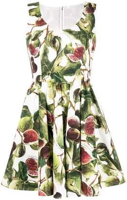 Dolce & Gabbana fig print circle-skirt dress