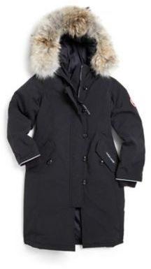Canada Goose Girl's Fur-Trimmed, Down-Filled Long Parka $575 thestylecure.com