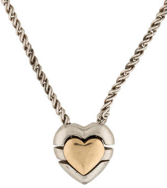 Tiffany & Co. Two-Tone Heart Puzzle Necklace $325 thestylecure.com