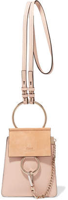 Chloé Faye Bracelet Leather And Suede Shoulder Bag - Pink