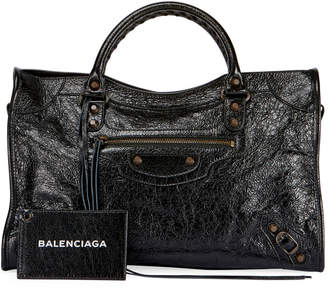 Balenciaga Classic City AJ Satchel Bag with Logo Strap