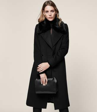 Reiss Lawson Faux-Fur Collar Coat