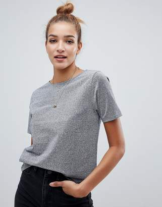 Asos DESIGN oversized t-shirt in metallic