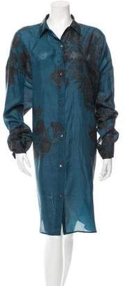 Dries Van Noten Printed Silk Shirt Dress w/ Tags