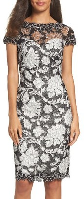 Women's Tadashi Shoji Embroidered Lace Sheath Dress $398 thestylecure.com