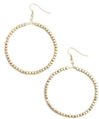 Women's Karine Sultan Ava Beaded Hoop Earrings $34 thestylecure.com
