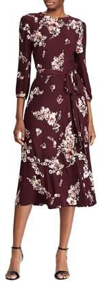 Lauren Ralph Lauren Floral-Print Jersey Midi Dress