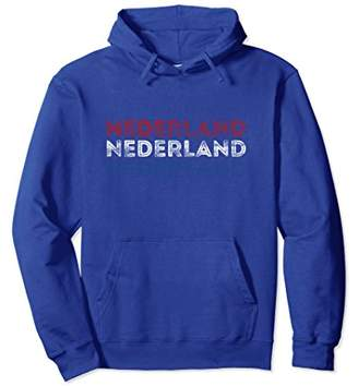 Netherlands Nederland Text Flag - Vintage Dutch Hoodie