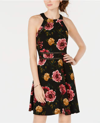 BCX Juniors' Floral Fit & Flare Dress