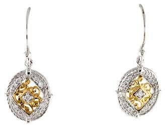 Charriol 18K Diamond Signature Oval Drop Earrings