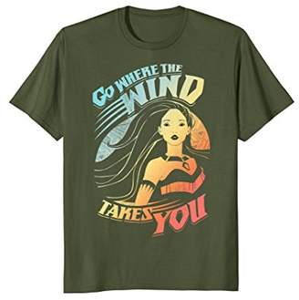 Disney Pocahontas Go Where The Wind Takes You Bright T-Shirt