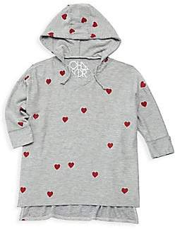 Chaser Little Girl's& Girl's Tiny Hearts Hoodie