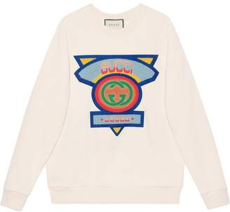 Gucci Oversize sweatshirt with '80s patch