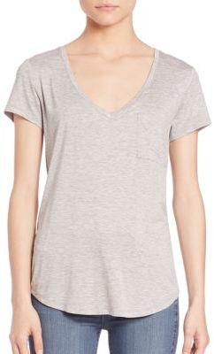 PAIGE Lynnea V-Neck T-Shirt $80 thestylecure.com