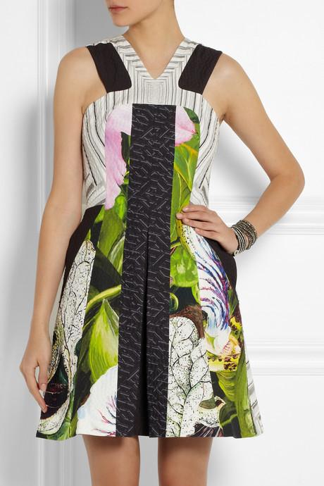 Peter Pilotto Kristen printed textured cotton-blend dress