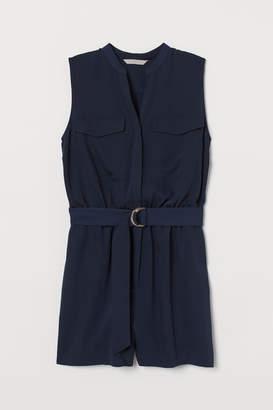 H&M V-neck Jumpsuit - Blue