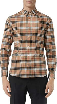 Burberry George Slim Fit Check Sport Shirt