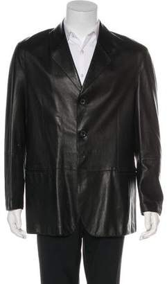 Giorgio Armani Leather Sport Coat