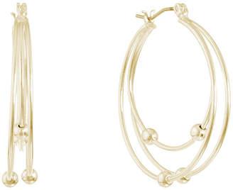 Gloria Vanderbilt 3 Inch Hoop Earrings