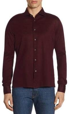 Luciano Barbera Long Sleeve Cotton Button Down Shirt