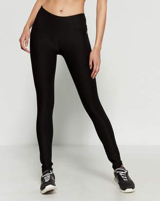 Reebok Black Quick Tight Logo Waist Athletic Leggings