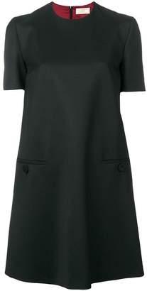 Sara Battaglia plain shift dress