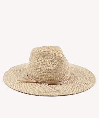 Sole Society Straw Sunhat with Floral Embroidery
