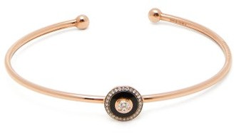 Selim Mouzannar Mina Diamond And 18kt Rose Gold Bracelet - Womens - Black